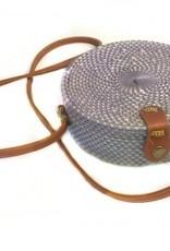 SB Round Rattan Bag Long Strap