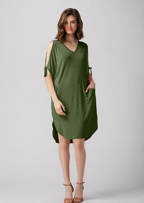 LNBF Joelle Tie Sleeve Dress