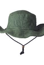 Ark Imports Jute Sun Hat -Green