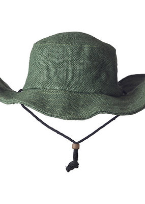 Ark Imports Jute Sun Hat- Green
