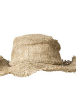 Ark Imports Wire Rim Fringe Sun Hat- Natural