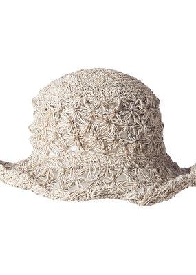 Ark Imports Crochet Hemp Sun Hat- Textured