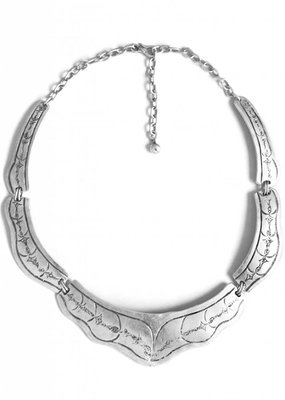 Turkish Silver Ziya Collar Necklace