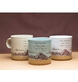 john muir camp mug calico white