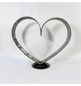 large heart pedestal