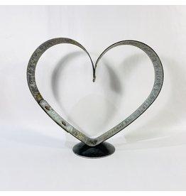 large heart pedestal