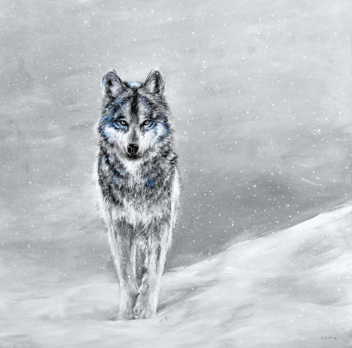 Gray Wolf print