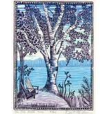 The Old Birch Tree matted print