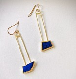 lapis 18k/22k earrings