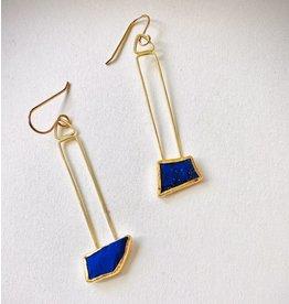 Lapis 18k/22k earrings