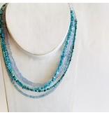 small beaded Arizona turquoise necklace