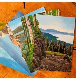 Tahoe Landscape post cards-5 pack