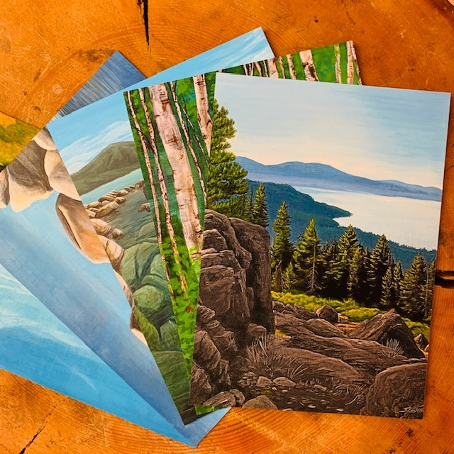 Tahoe Landscape post cards-5 pack
