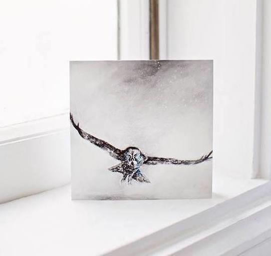 great grey owl  card