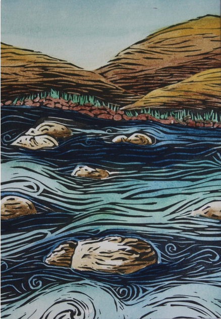 Truckee River  framed print