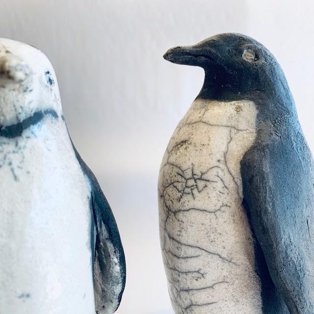 Raku Ceramic Penguin