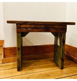 Antique chestnut barnwood seat