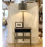 End Table w/ gas can lamp