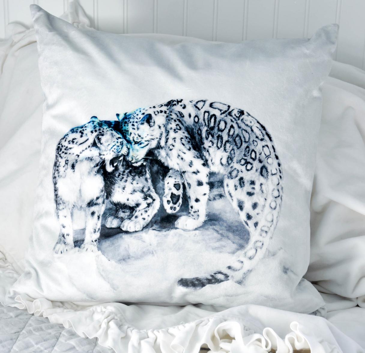 Snow Leopards Pillow Print