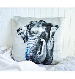 Asian Elephant Pillow