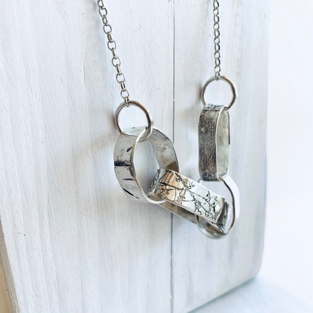 Rivet Rings Necklace