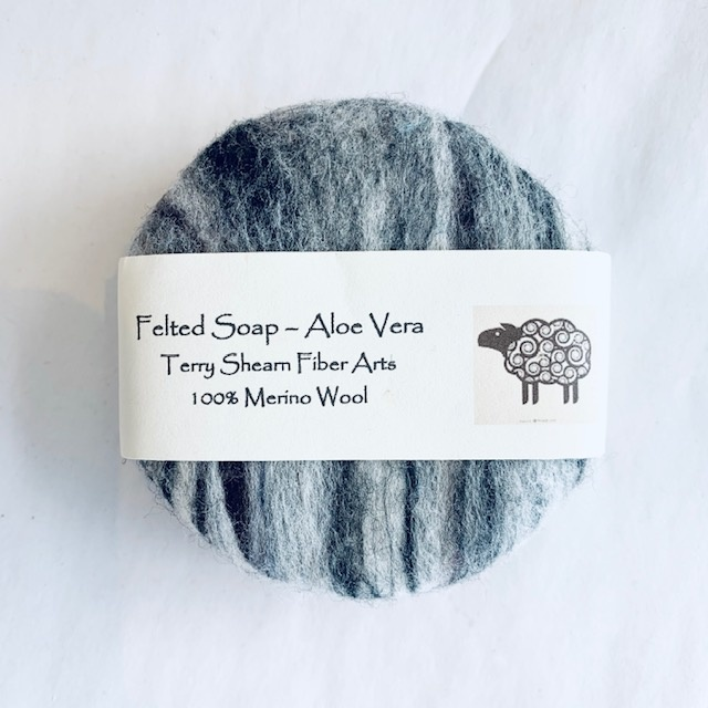 Round Felted Soap