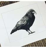 Raven matted print