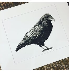 'Raven Nevermore' matted print