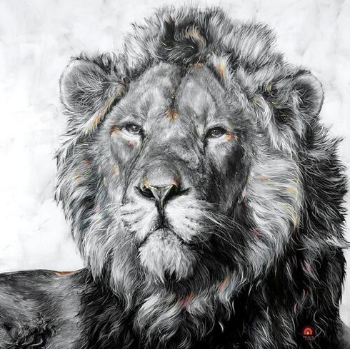 Asiatic Lion 48x48