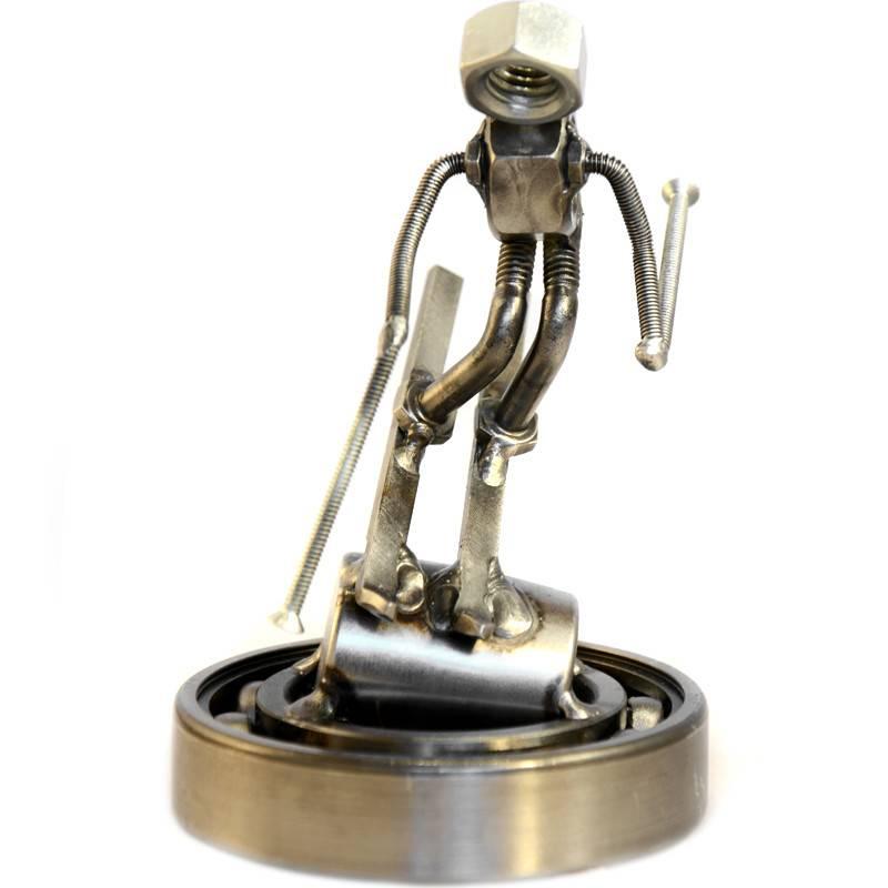 Skier Nut Sculpture