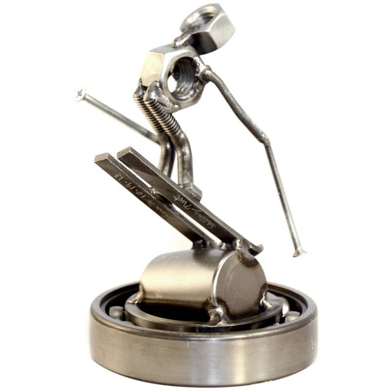 Skier Nut Sculpture