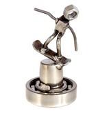 Snowboarder Nut Sculpture