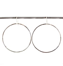 Round Heather Hoop Earrings