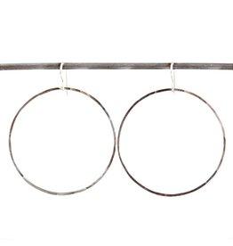 Round Heather Hoop Earrings
