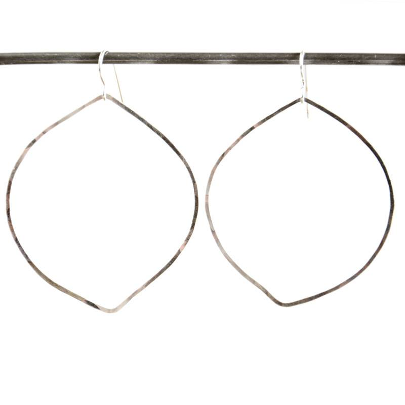 Petal Heather Hoops Earrings