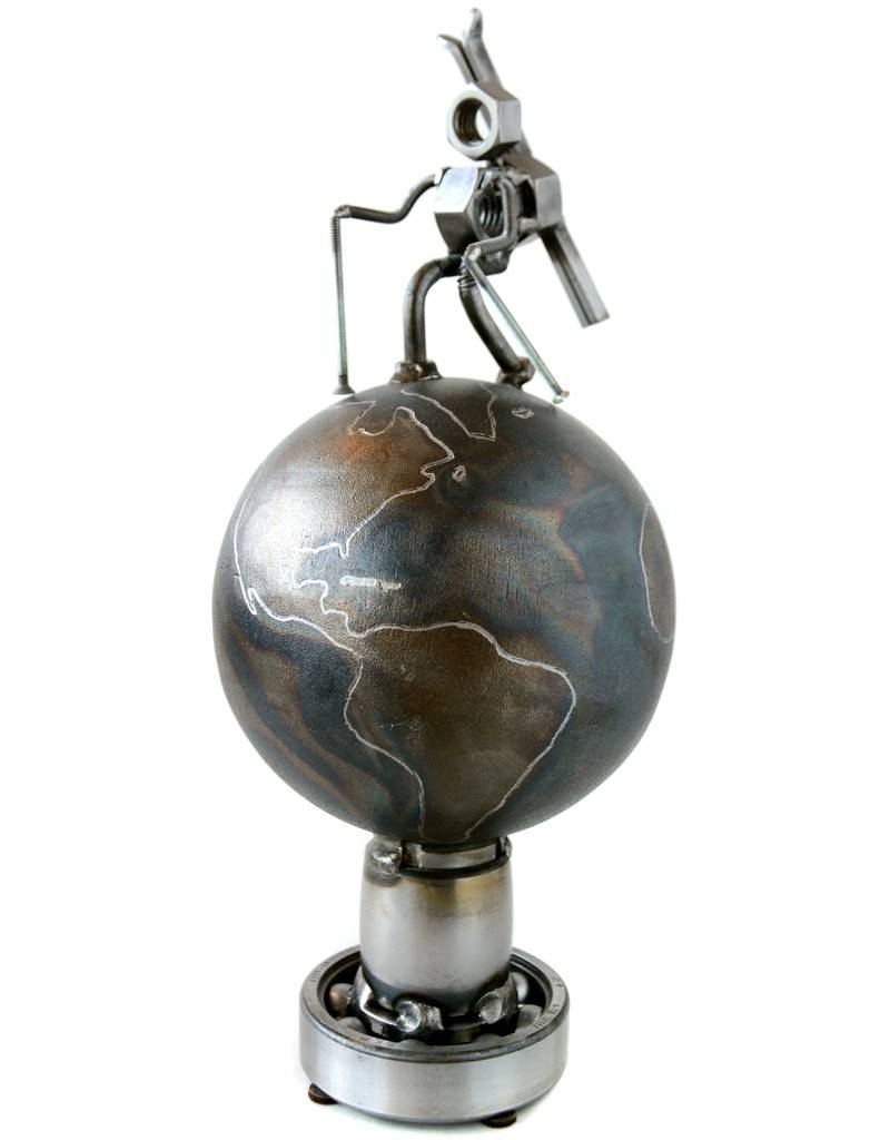 World Ski Hiking Nut Sculpture