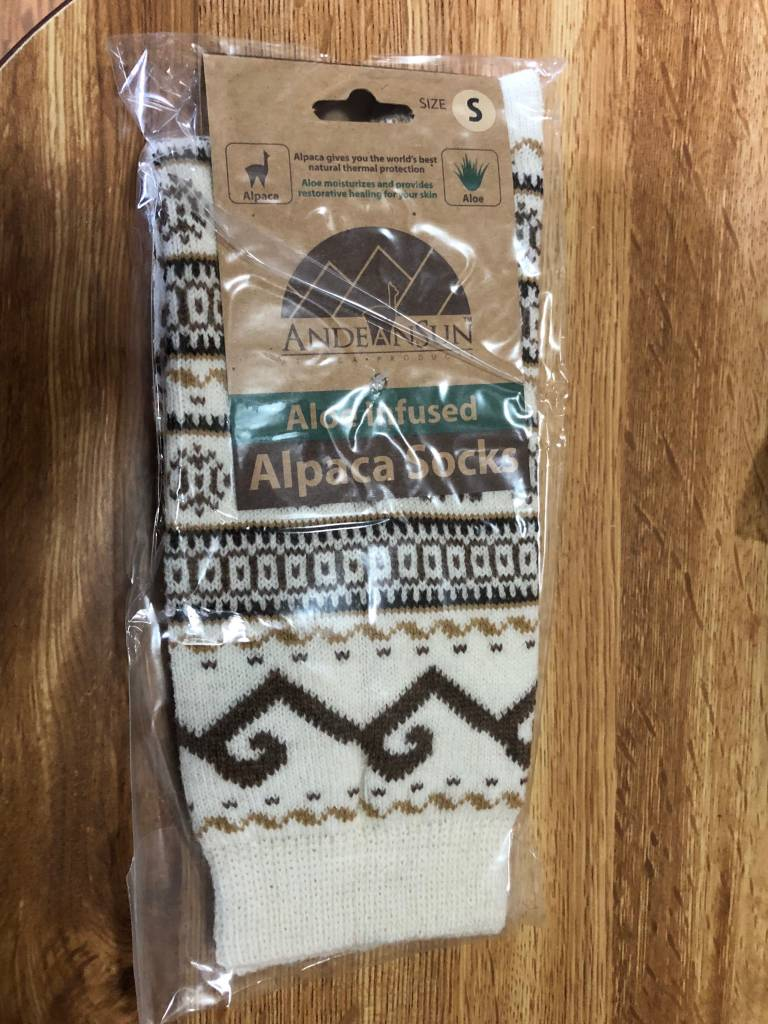 Andean Sun Alpaca Socks, Fair Isle Women
