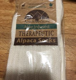 Andean Art Alpaca Socks, Therapeutic Crew Ivory XL