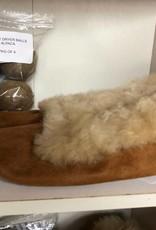Andean Art Alpaca Fur Houseslippers, Camel, Sz 8.5
