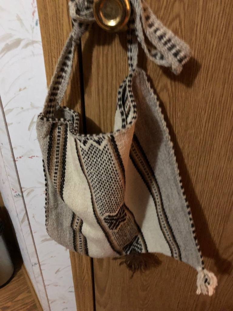 "Andean Art Alpaca Shoulder Bag, Not Lined  12"" x 12"""