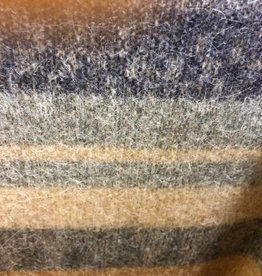 Andean Art Alpaca Blanket, Striped, Gray/Black/Fawn  Twin size