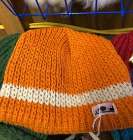 NFP Alpaca Hat, Orange with White Trim