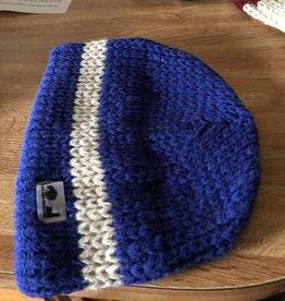 NFP Alpaca Hat, Beanie NFP Blue w White Trim