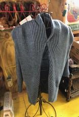 Alpaca In Style Alpaca Sweater, Long Drapy, Denim XXL