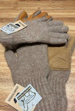NEAFP Alpaca Gloves, Driving , Leather Palms Camel L/SM