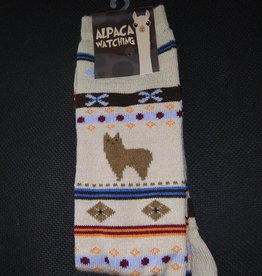 Choice Alpacas Alpaca Watching Socks, Beige L Adult