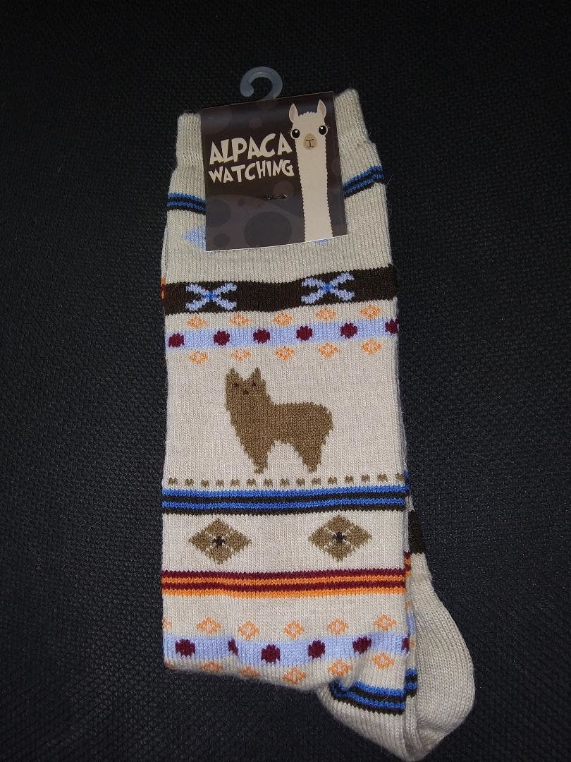 Choice Alpacas Alpaca Watching Socks, Beige L Adult