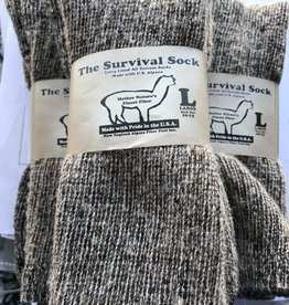NEAFP Alpaca Socks, Survival, Gray Med (7-10)