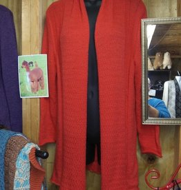 Andean Art Alpaca Sweater, Orange Lg