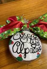 Circus City Alpaca Christmas Ornament, Circus City 6 in